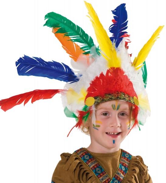 Bunter Indianer Kinder Kopfschmuck
