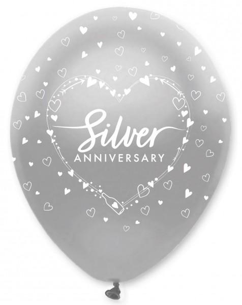 6 Silver Anniversary balloon 30cm