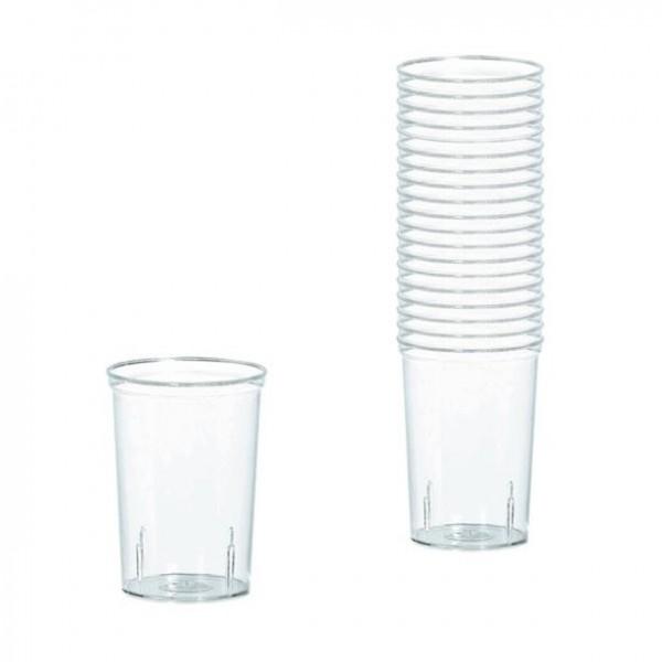 Verres à liqueur en plastique transparent 42 ml