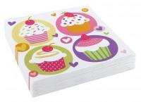 20 serviettes de table cupcake 33cm