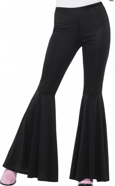 70s Penny flared trousers women black