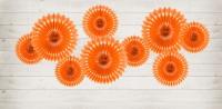 3 Papierrosetten Kate orange