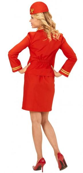 Rotes Stewardess Damenkostüm