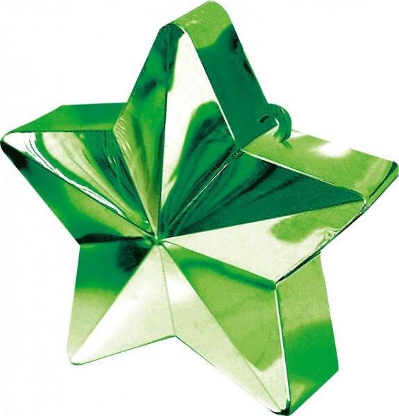 Peso globo estrella en verde