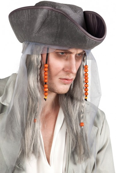 Ghost pirate wig with hat
