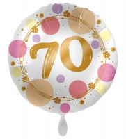 70. Geburtstag Ballon Happy Dots 45cm