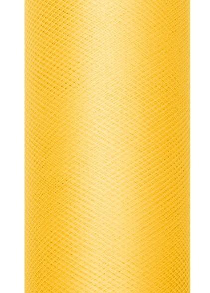 Tulle fabric Luna yellow 9m x 30cm