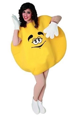Gelbes Schokolinsen Unisex Kostüm