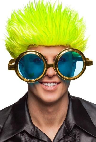 Gafas de fiesta XXL en dorado-azul