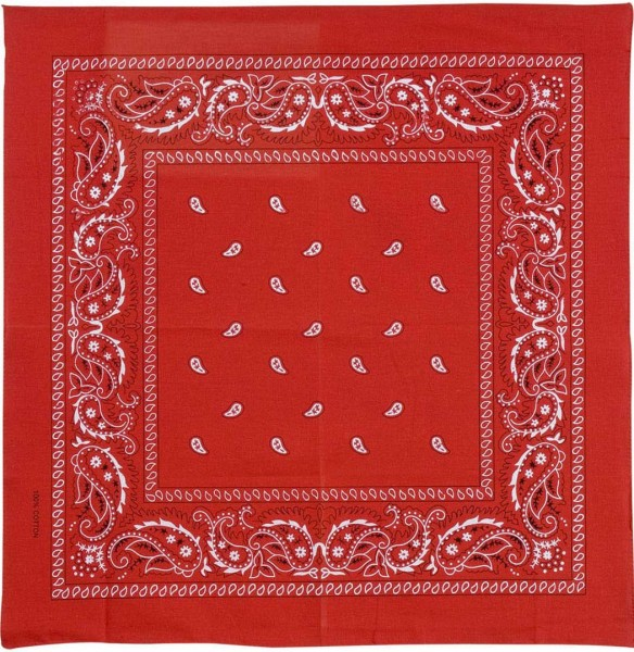 Classic cowboy scarf red