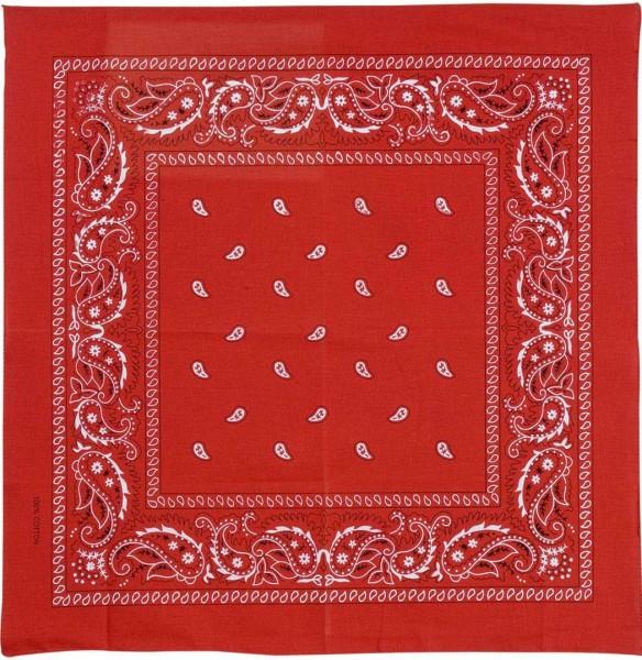 Klasyczny szalik kowbojski w kolorze czerwonym