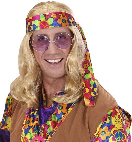 Peluca hippie clásica rubia