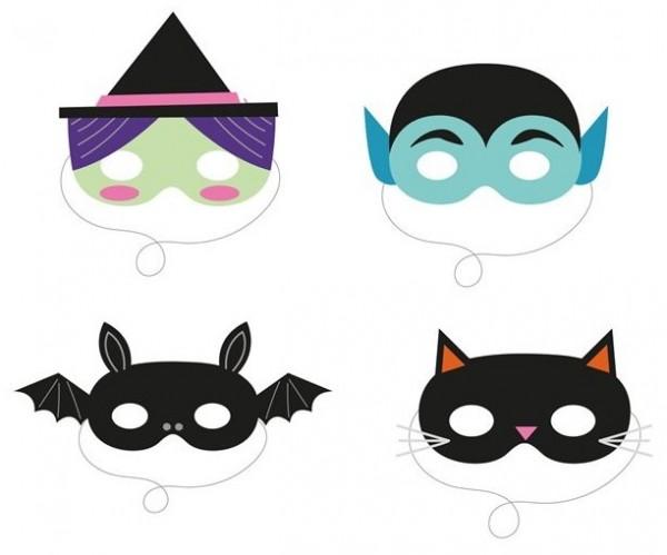 4 DIY Halloween monster masker