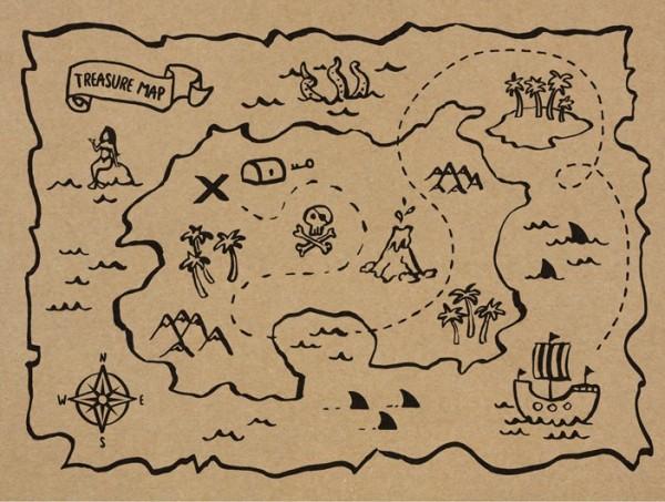 6 tovagliette pirata dei Mari del Sud 40 x 30 cm