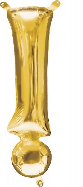 Mini Folienballon Symbol ! gold 35cm
