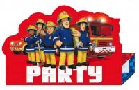 8 Feuerwehrmann Sam SOS Einladungskarten