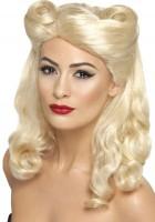 Blonde Pin Up Girl Rockabella Perücke