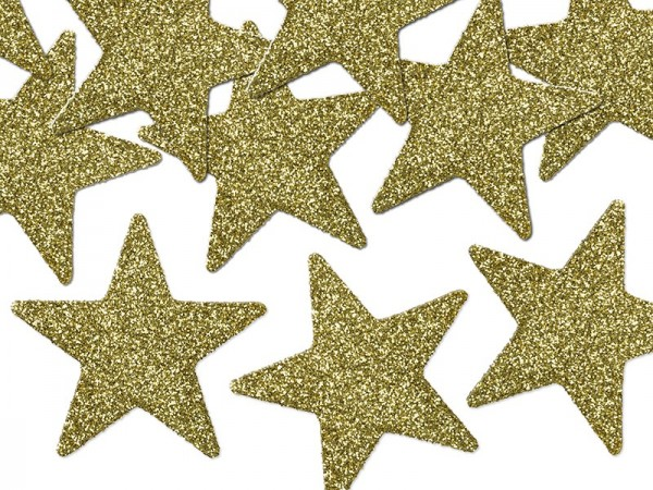 8 glittering decorative stars 5cm