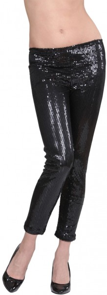 Zwarte legging met lovertjes