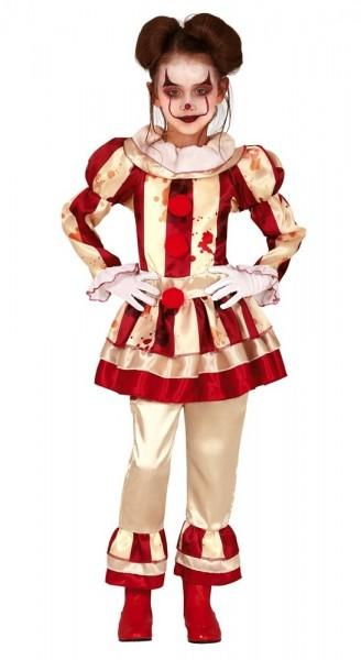 Horror circus clown kostuum voor meisjes