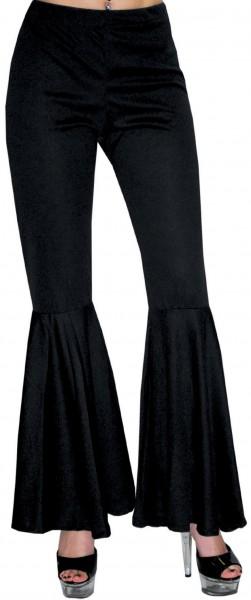 Pantalon évasé femme noir Katja
