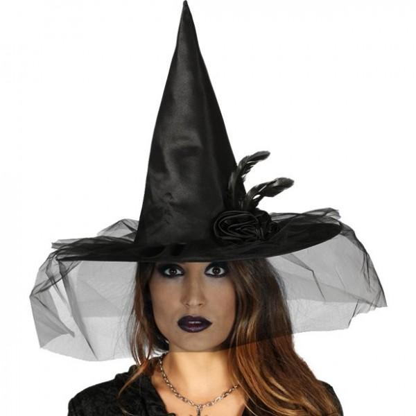 Chapeau de sorcière noir Glinda