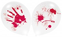 4 Halloween LED Ballons Mörderisches Blutbad