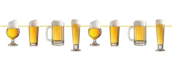 Ghirlanda bicchieri di birra 10m