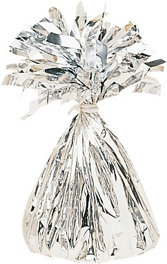 Fringed cone balloon weight in silver