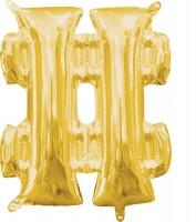 Mini Folienballon Symbol # gold 35cm