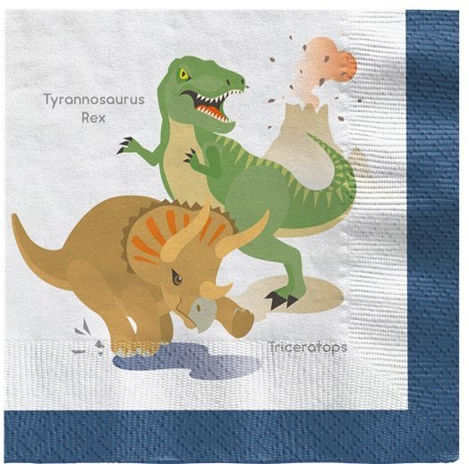 20 Happy Dinosaur Servietten 33 x 33cm