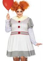 Horror Clown Damen Plus Size Kostüm