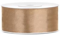 25m Satin Geschenkband hellgold 25mm breit