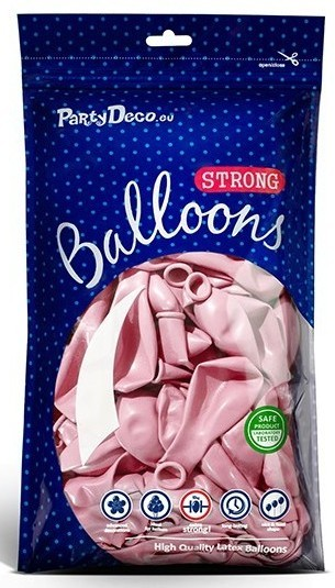 100 globos metalizados Partystar rosa claro 23cm
