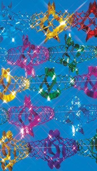 Guirnaldas de papel de brillo de colores 30x600cm