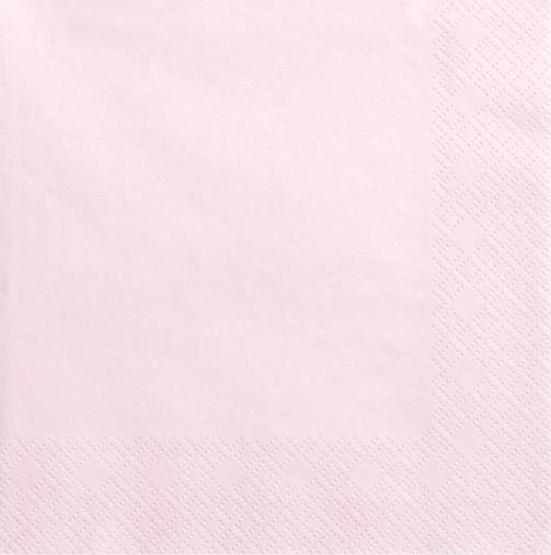 20 Serviettes Scarlett rose pâle 33cm