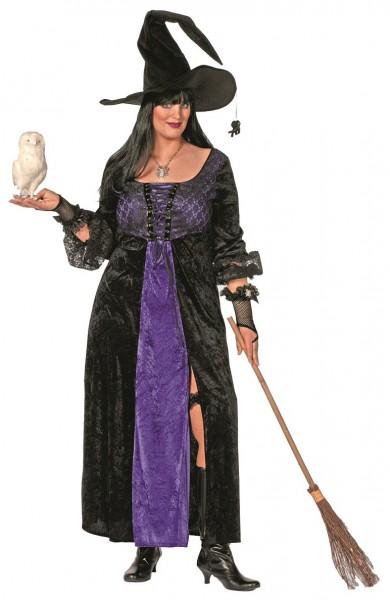 Costume de sorcière grande taille noir-violet