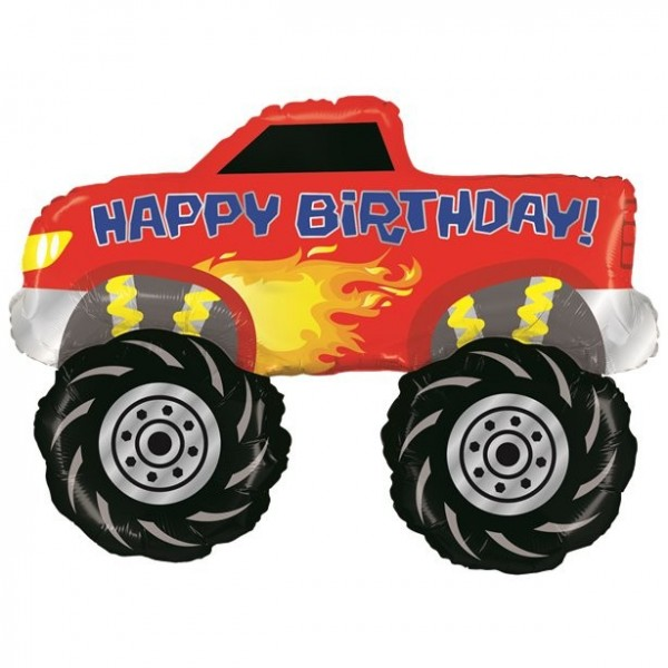 Birthday Monster Truck Folienballon 1,01m