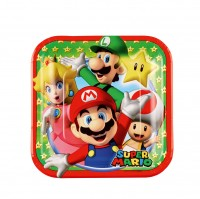 8 Super Mario Family Pappteller 18cm
