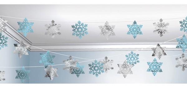 Shimmering ice crystal garland 2.54m