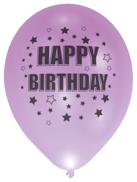 Set van 4 LED ballonnen Happy Birthday