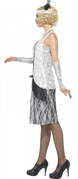 Graziles Silbernes Charleston Kleid