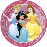 8 Royal Disney Princess Pappteller 23cm