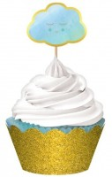 Hello World Cupcake Set blau 72-teilig