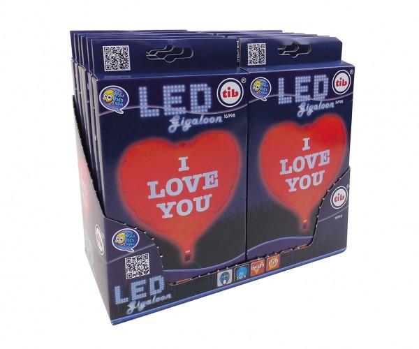 LED heart balloon & balloon weight 65cm