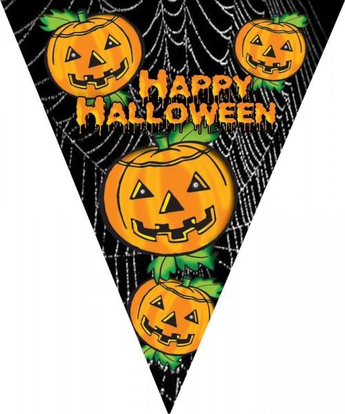 Happy Halloween Kürbis Wimpelkette 5m