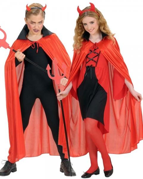 Devil's cape red with black collar 110cm