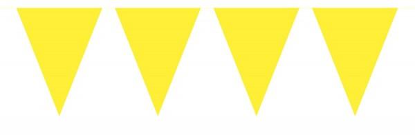 Chaîne de fanion jaune grinçant de 10 m