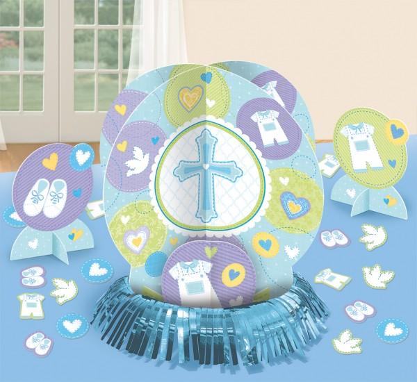 Tischdeko Set Heilige Kommunion Blau 23-teilig