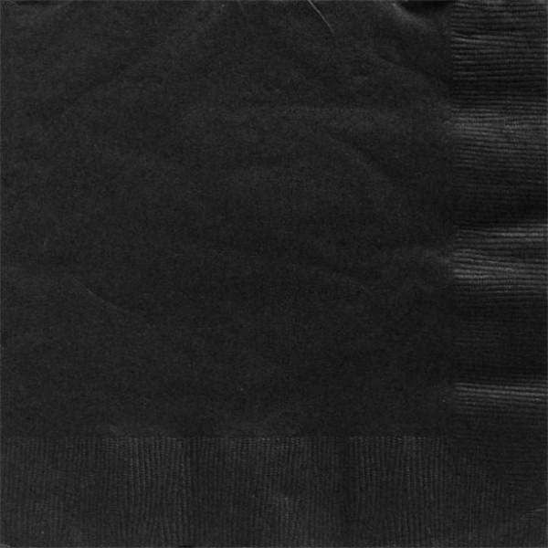 50 zwarte papieren servetten Basel 40cm